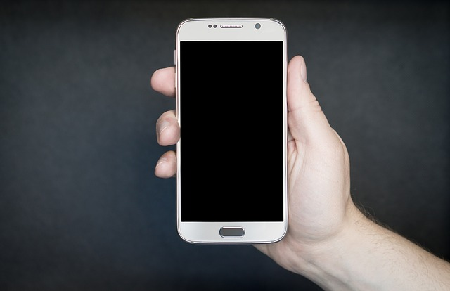 zhasnutý smartphone